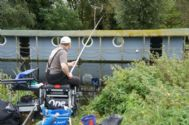 Scott fishing the Soar Valley winter league with the Colmic soar team